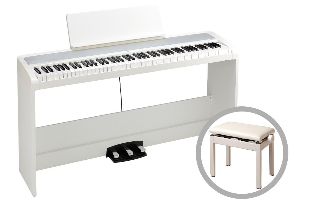KORG コルグ / B2SP-WH (ホワイト)【高低自在ピアノ椅子セット!】デジタル・ピアノ【PNG】