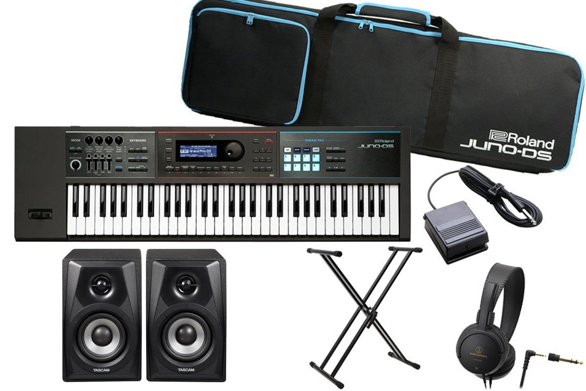 Roland ローランド / JUNO-DS61 【超豪華オプションセット!】《特典ケーブル2本付き!》シンセサイザー (JUNO-DS)【YRK】