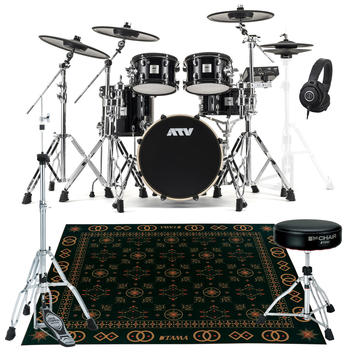 ATV / aDrums artist Expanded Set ADA-EXPSET HHスタンドとスローンとマットセット