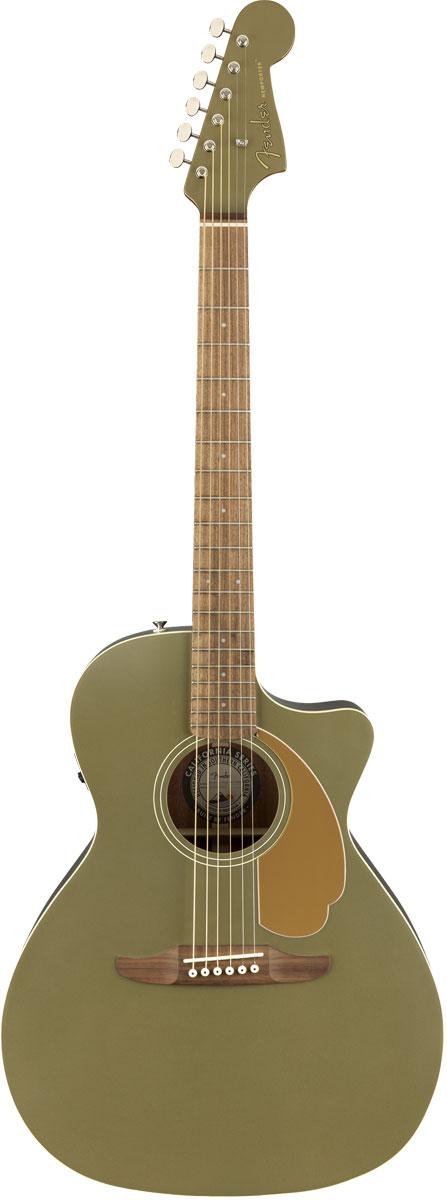 【タイムセール:29日12時まで】Fender Acoustic / Newporter Player Walnut Fingerboard Olive Satin アコースティックギター エレアコ【YRK】【新品特価】