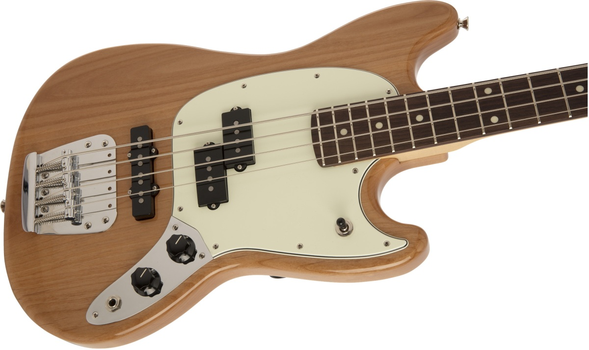 【タイムセール:29日12時まで】Fender / Made in Japan Hybrid Mustang Bass Natural
