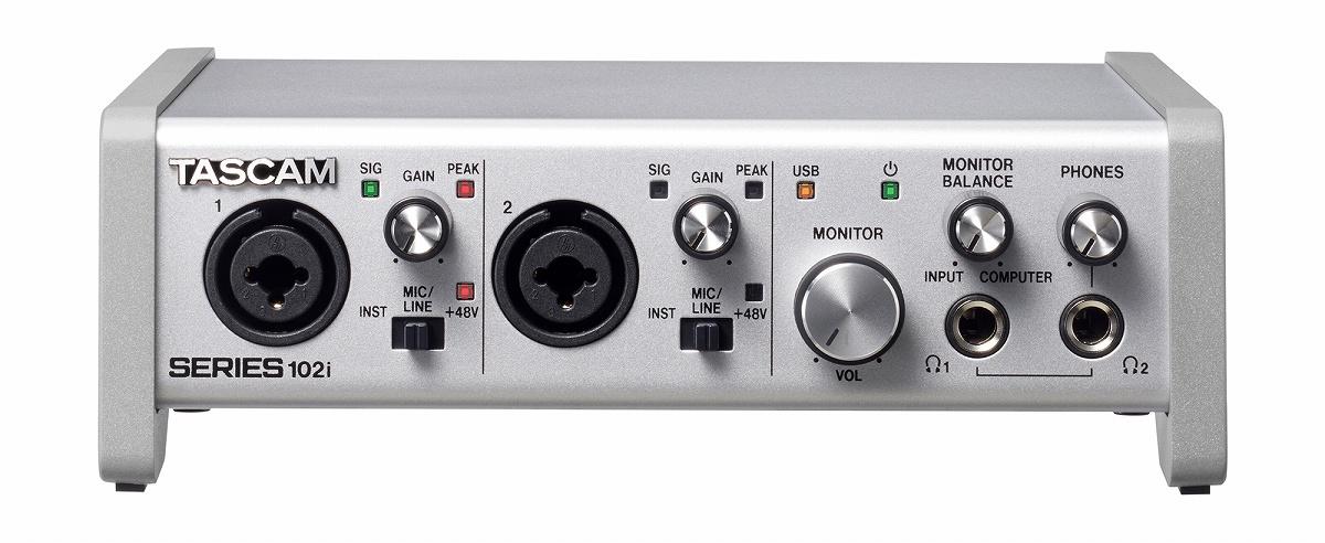 TASCAM タスカム / SERIES 102i USBオーディオ/MIDIインターフェース【お取り寄せ商品】
