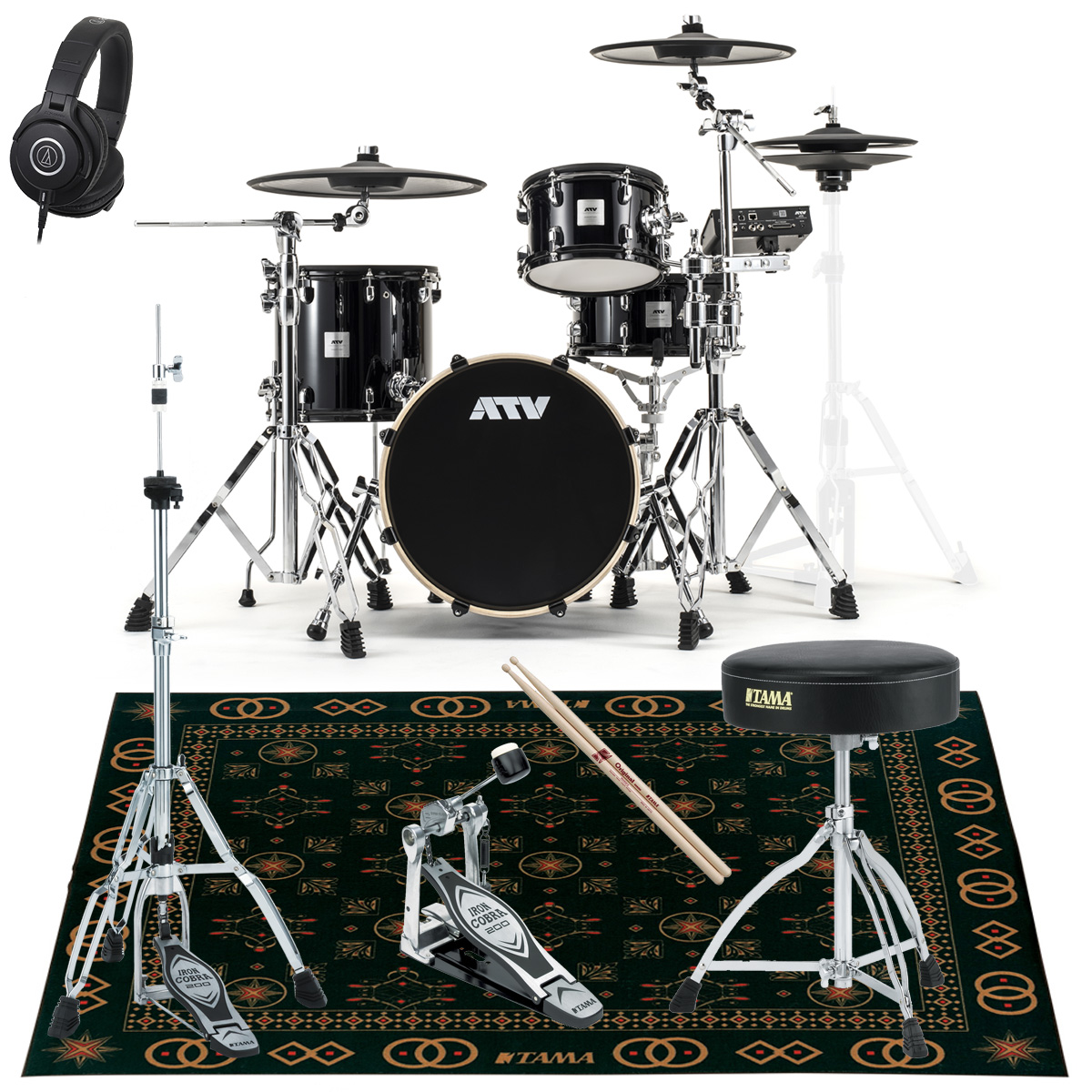 ATV / aDrums artist Standard Set ADA-STDSET オリジナルスターターパックT オリエント風マット付き《予約注文/納期12月上旬頃予定》