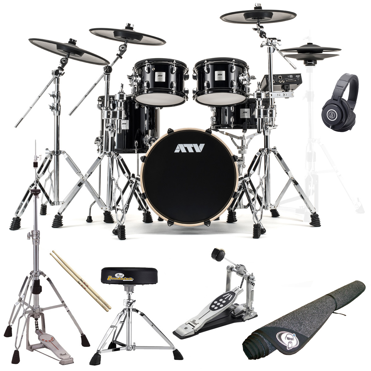 ATV / aDrums artist Expanded Set ADA-EXPSET オリジナルスターターパックP プロラケ・ドラムマット付き