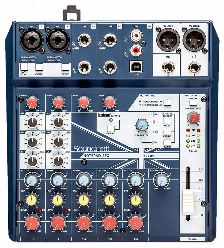 Soundcraft サウンドクラフト / Notepad-8FX アナログ・ミキサー【お取り寄せ商品】