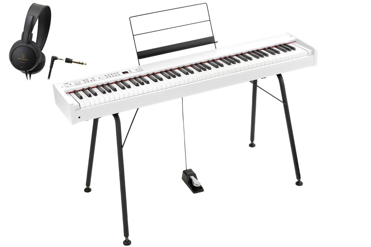KORG コルグ / DIGITAL PIANO D1 WH【スタンド&ヘッドホンセット!】 デジタル・ピアノ《ワイヤレスヘッドホンプレゼント:811165000》【PNG】