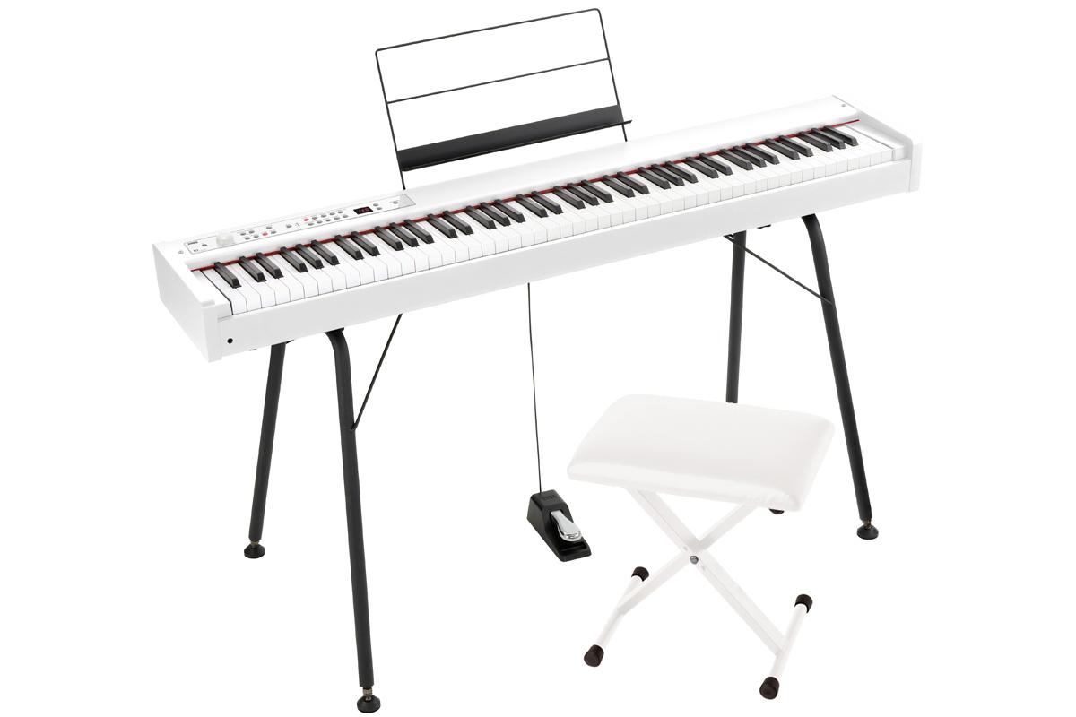 KORG コルグ / DIGITAL PIANO D1 WH【純正スタンド&椅子セット!】 デジタル・ピアノ《ワイヤレスヘッドホンプレゼント:811165000》【PNG】
