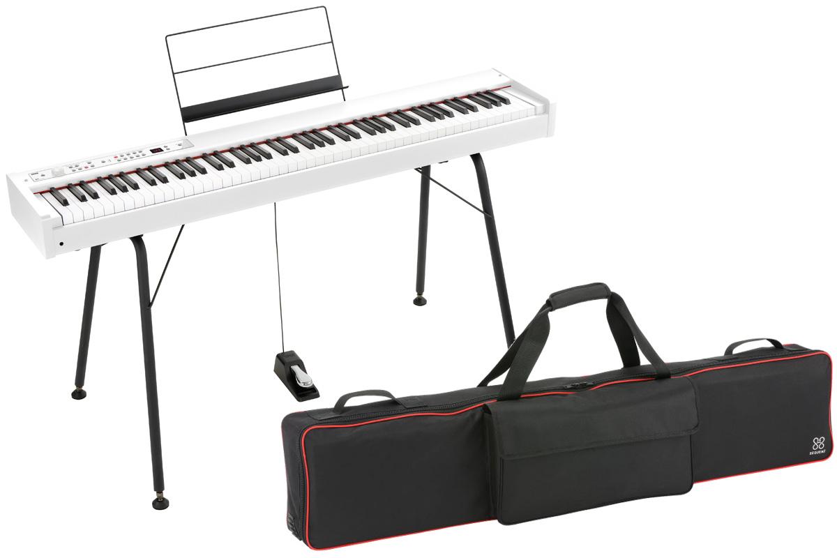 KORG コルグ / DIGITAL PIANO D1 WH【専用ケース&スタンドセット!】デジタル・ピアノ《ワイヤレスヘッドホンプレゼント:811165000》【PNG】