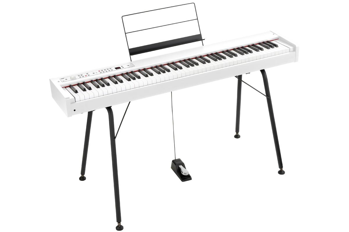 KORG コルグ / DIGITAL PIANO D1 WH【純正スタンドセット!】 デジタル・ピアノ《ワイヤレスヘッドホンプレゼント:811165000》【PNG】