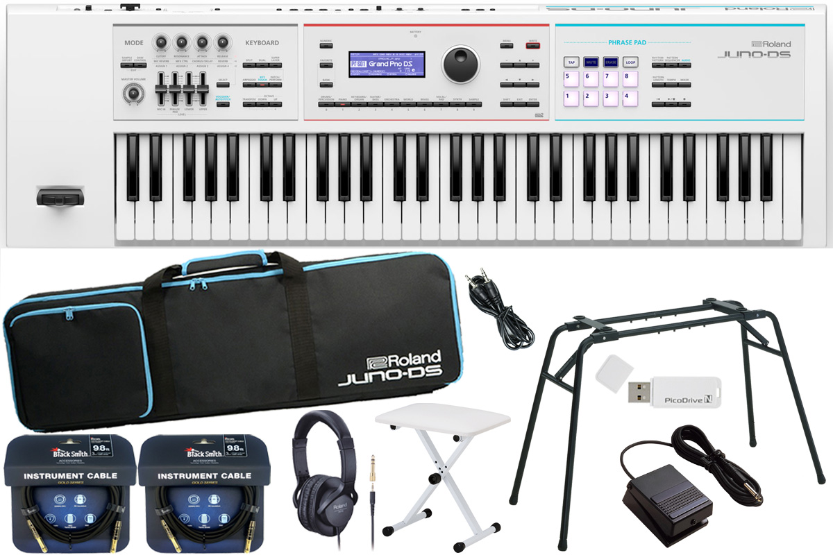 Roland ローランド / JUNO-DS61W【数量限定 キーボードベンチ付きスタートセット!】シンセサイザー (JUNO-DS)