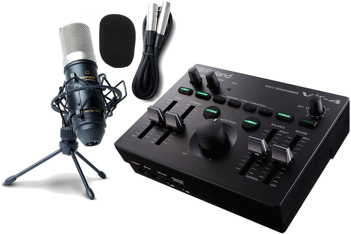 Roland ローランド / VT-4【コンデンサーマイクセット!】Voice Transformer ボイストランスフォーマー AIRA (VT4)【YRK】