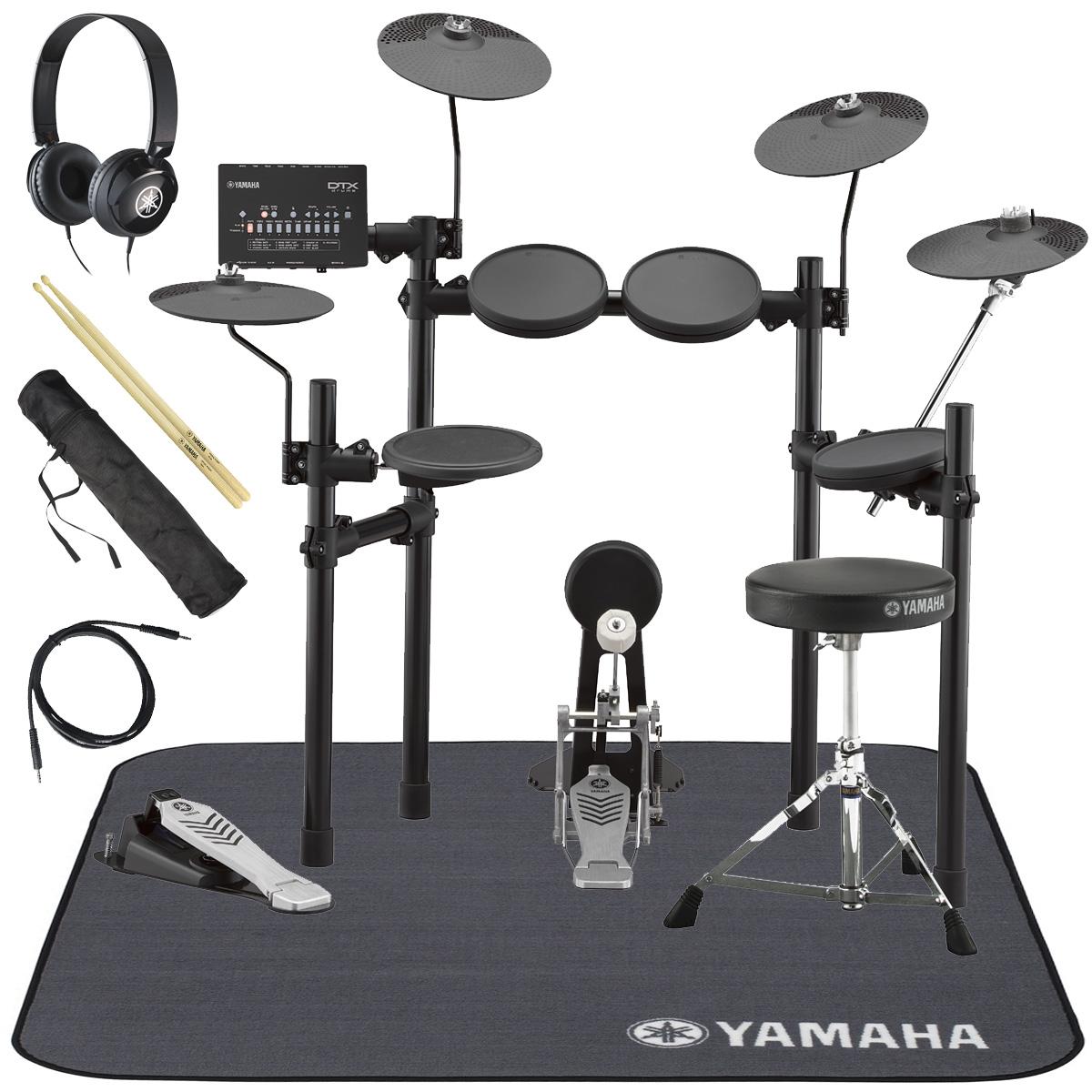 YAMAHA / DTX452KUPGS 電子ドラム ヤマハ純正ヘッドホンとスティックとマットセット【YRK】
