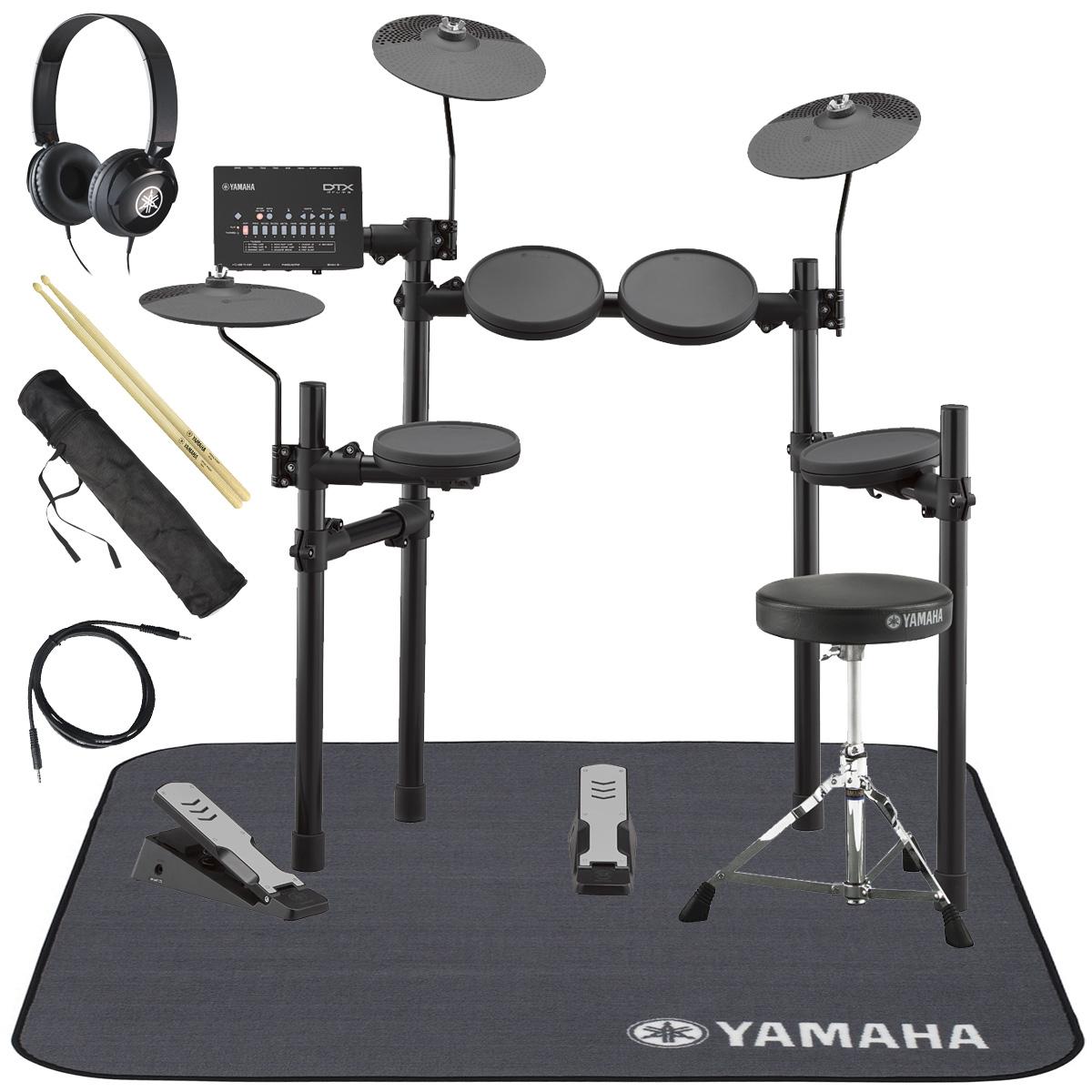 YAMAHA / DTX402KS 電子ドラム ヤマハ純正ヘッドホンとスティックとマットセット【YRK】