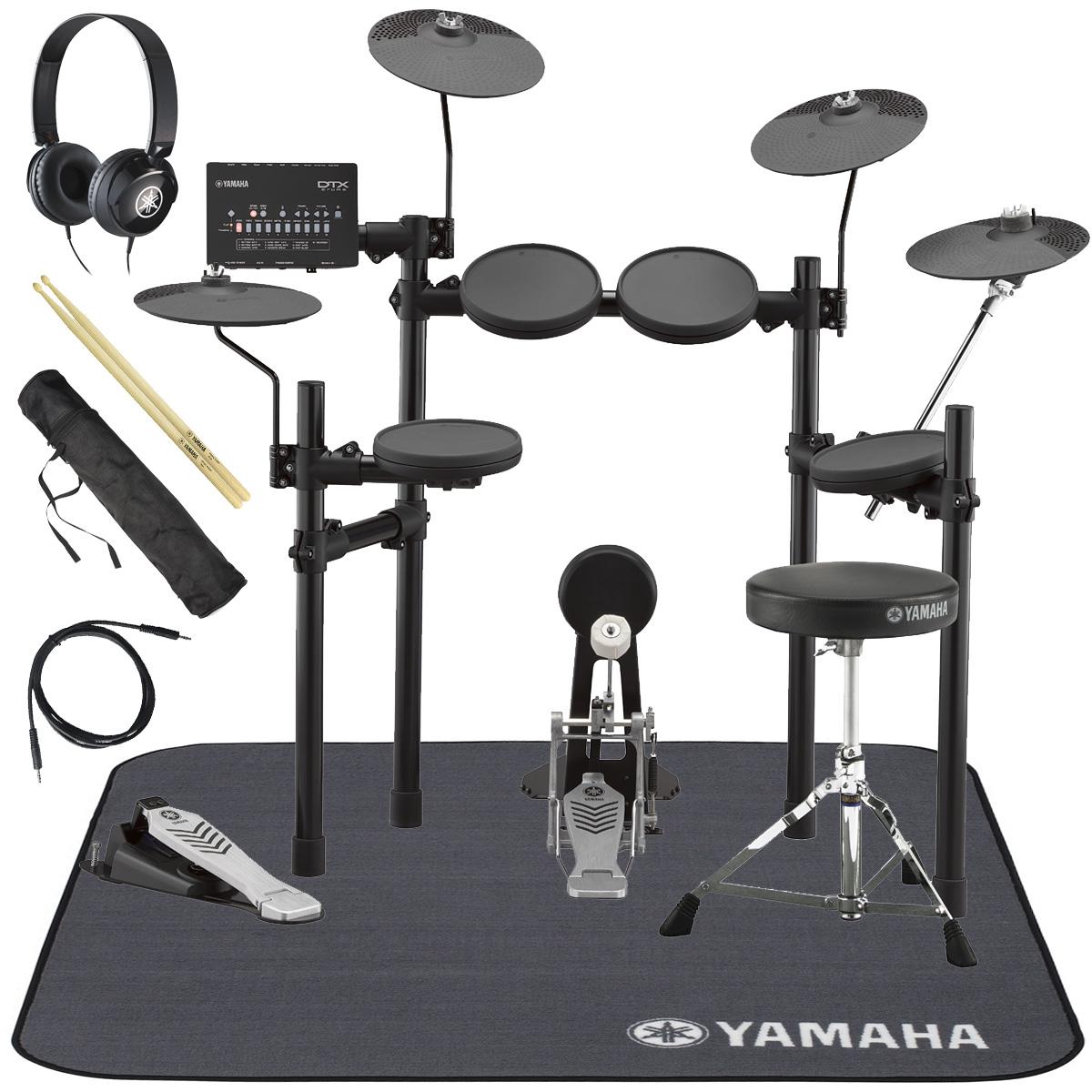 YAMAHA / DTX432KUPGS 電子ドラム ヤマハ純正ヘッドホンとスティックとマットセット【YRK】