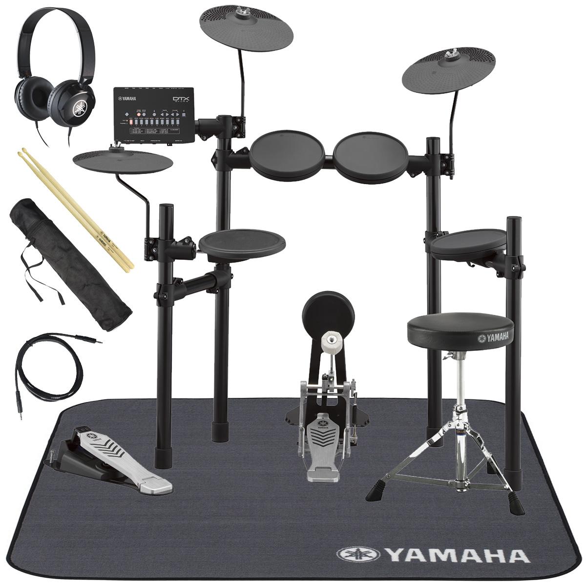 YAMAHA / DTX452KS 電子ドラム ヤマハ純正ヘッドホンとスティックとマットセット【YRK】