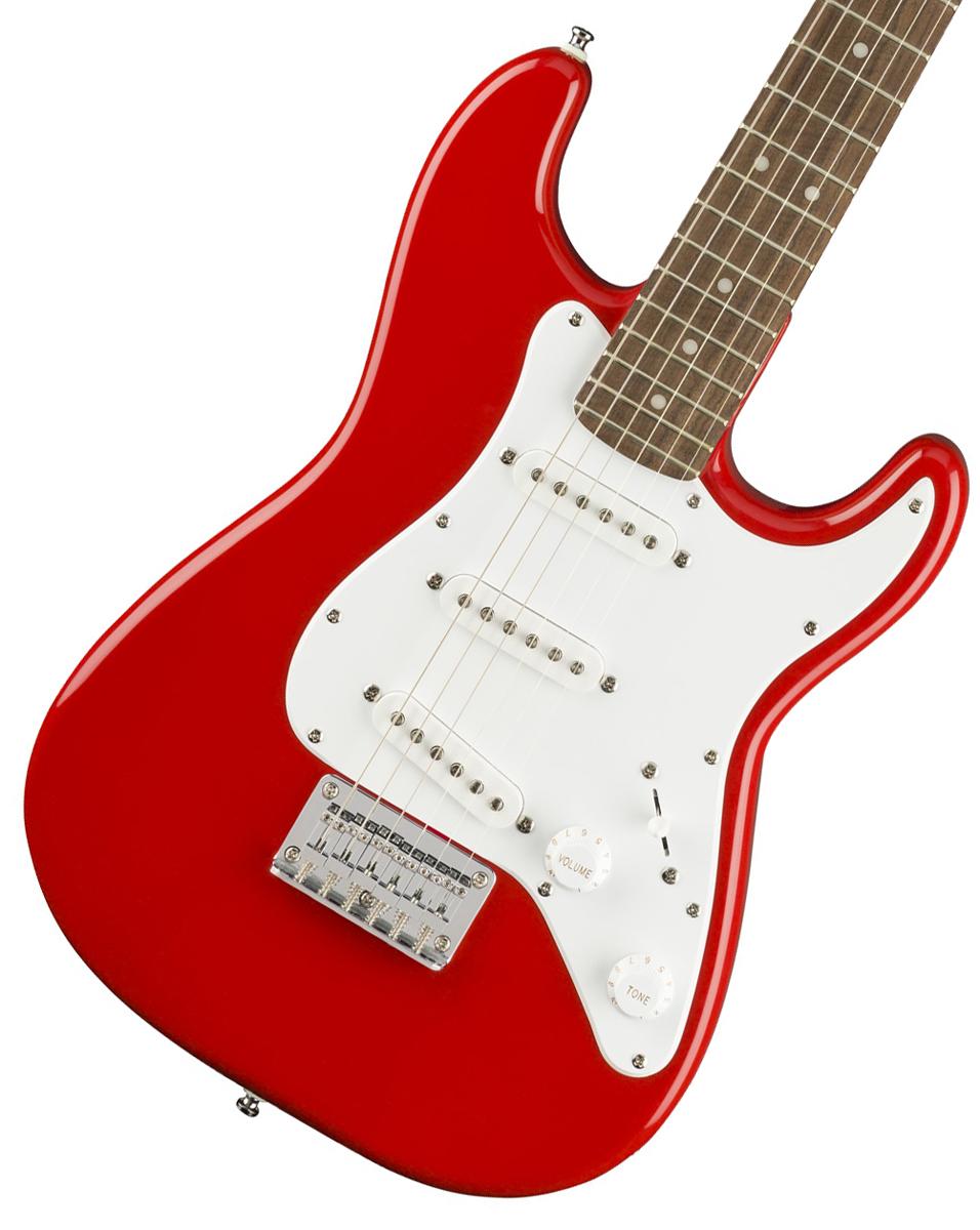 【タイムセール:29日12時まで】Squier / Mini Strat Laurel Fingerboard Torino Red スクワイヤー ミニギター《純正バレットチューナープレゼント!/+621153790》