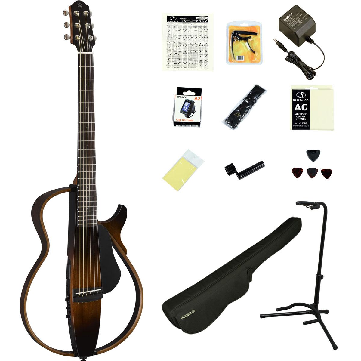 大人気のヤマハ サイレントギター、16点セット! YAMAHA / SLG200S TBS (タバコブラウンサンバースト) 【充実のアクセサリーつき16点セット】 ヤマハ サイレントギター アコースティックギター スチール弦仕様 SLG-200S【YRK】