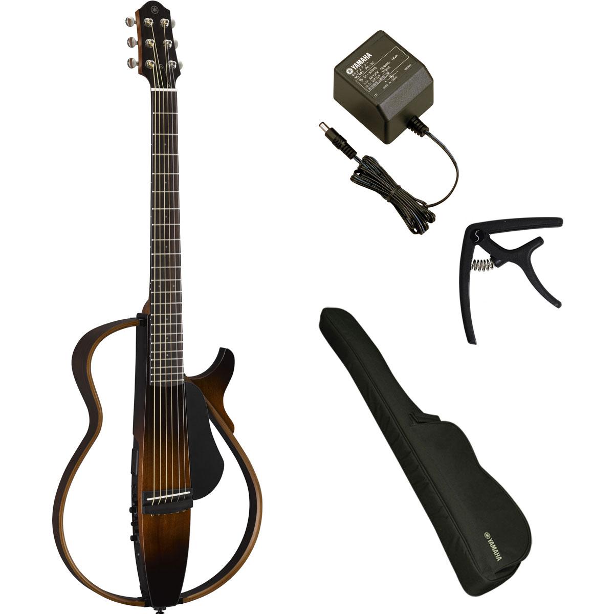 YAMAHA / SLG200S TBS (タバコブラウンサンバースト) 【ACアダプター&カポつき7点セット】 ヤマハ サイレントギター アコースティックギター スチール弦仕様 SLG-200S【YRK】