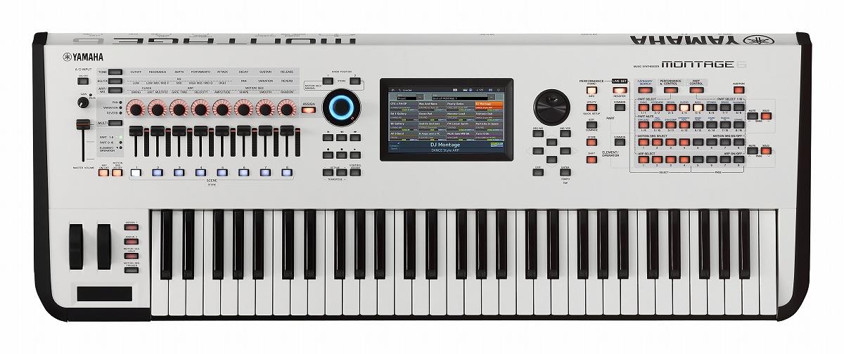 【在庫あり】YAMAHA ヤマハ / MONTAGE6 WH (ホワイト) ミュージックシンセサイザー 61鍵モデル【YRK】