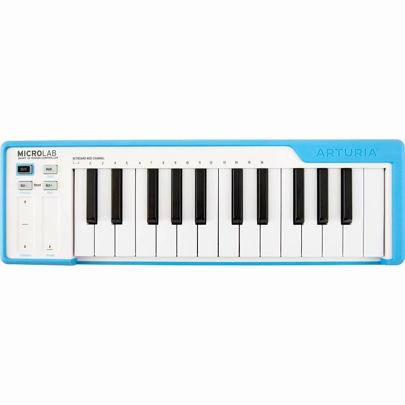 Arturia アートリア / MICROLAB BL (ブルー) MIDIキーボード【お取り寄せ商品】【YRK】