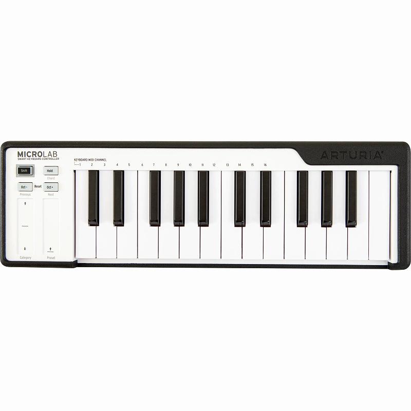 Arturia アートリア / MICROLAB BK (ブラック) MIDIキーボード【お取り寄せ商品】【YRK】