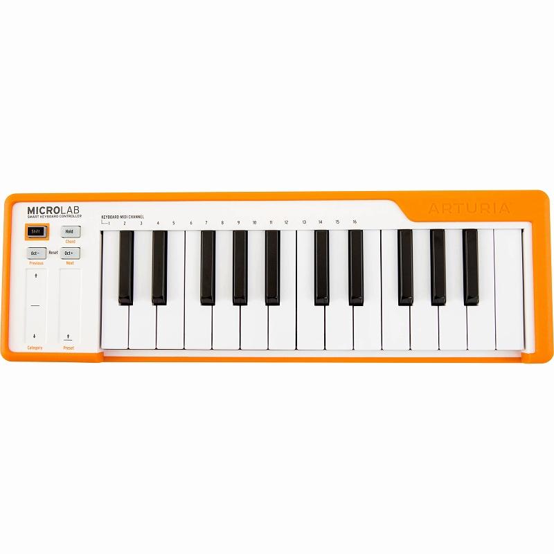Arturia アートリア / MICROLAB OR (オレンジ) MIDIキーボード【お取り寄せ商品】【YRK】