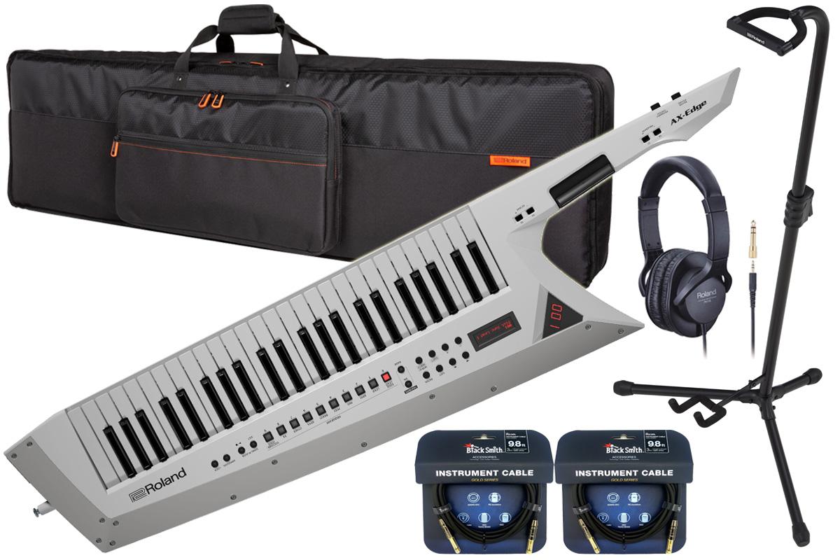 Roland ローランド / AX-EDGE W ホワイト【スタートセット!】49鍵盤キーター【YRK】