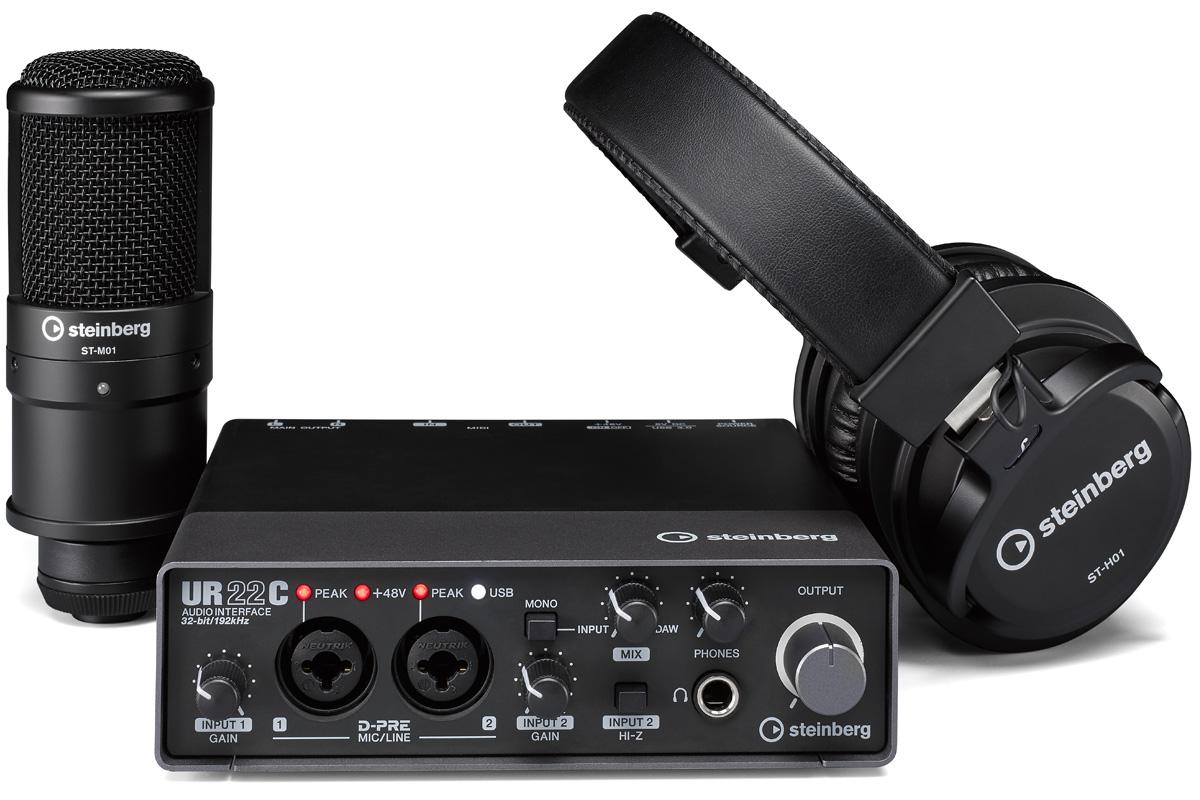 【在庫あり】Steinberg スタインバーグ / UR22C Recording Pack コンプリートパッケージ【YRK】