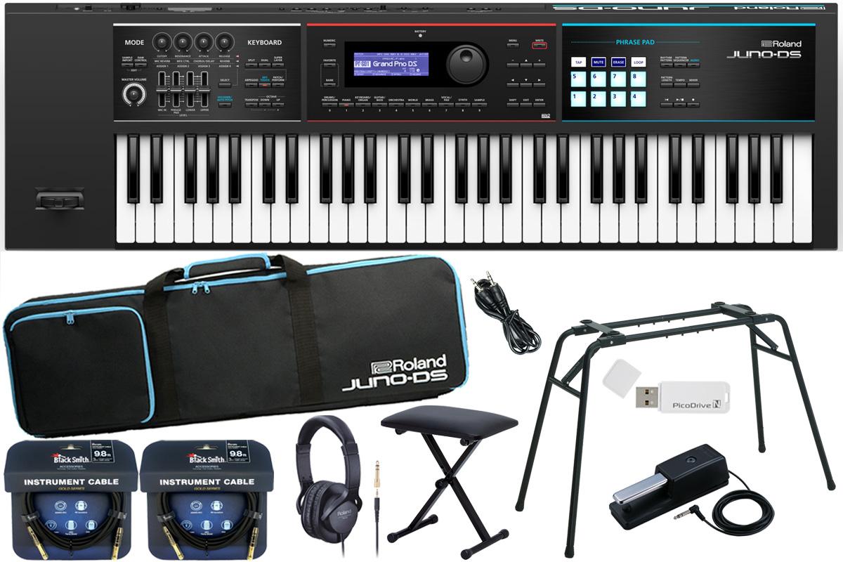 Roland ローランド / JUNO-DS61【数量限定キーボードベンチ付きDP-10スタートセット!】シンセサイザー (JUNO-DS)