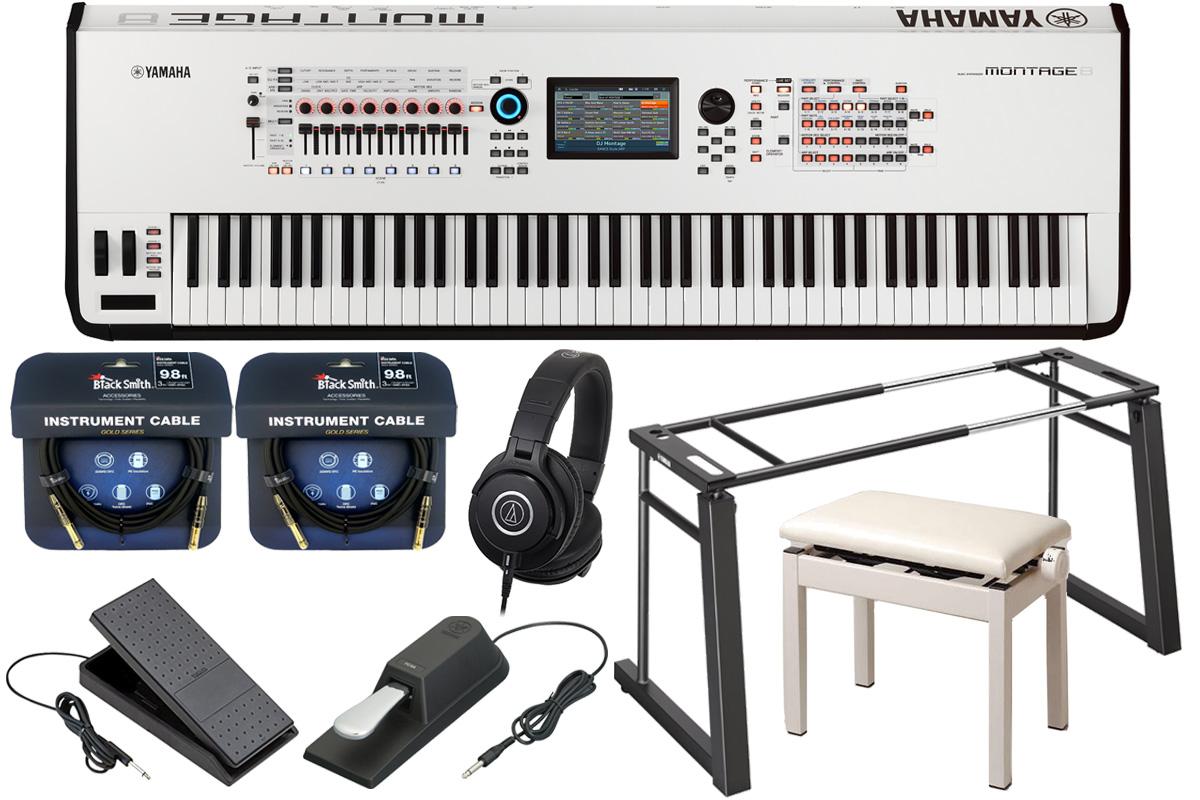 YAMAHA ヤマハ / MONTAGE8 WH (ホワイト)【コンプリートセット!】ミュージックシンセサイザー 88鍵モデル【YRK】