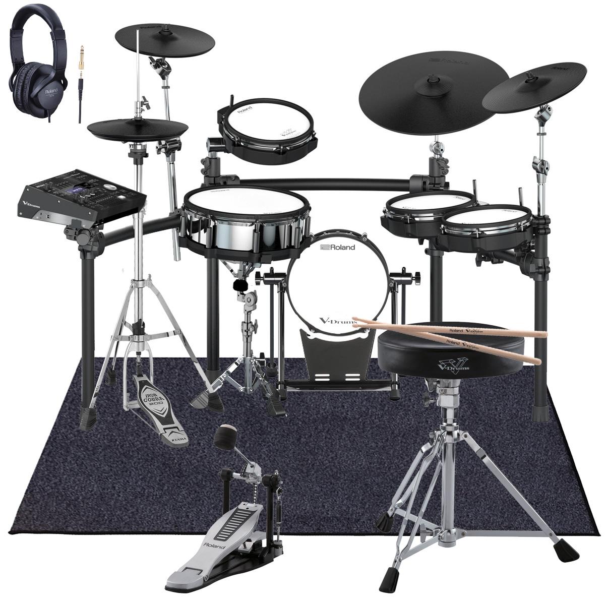 Roland Drum System TD-50K カスタム VH-13ハイハット KD-120BK MDS-50K スターターパック マット付き【YRK】
