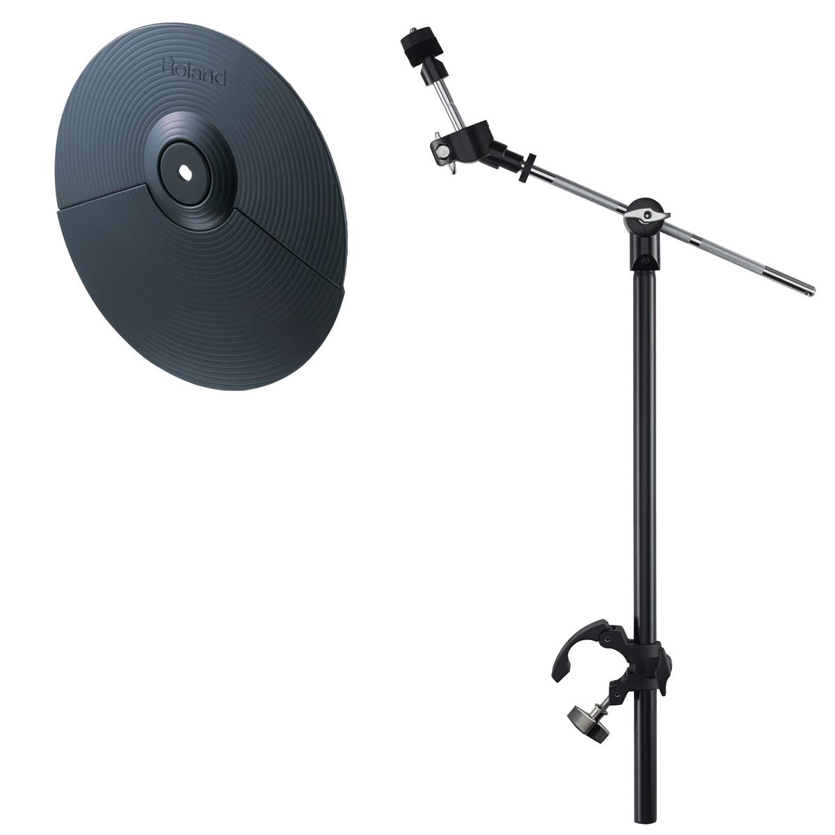 Roland / CY-5 Vドラム用シンバルパッドと純正シンバルマウントセット 【アウトレット品】【保証無し】【YRK】