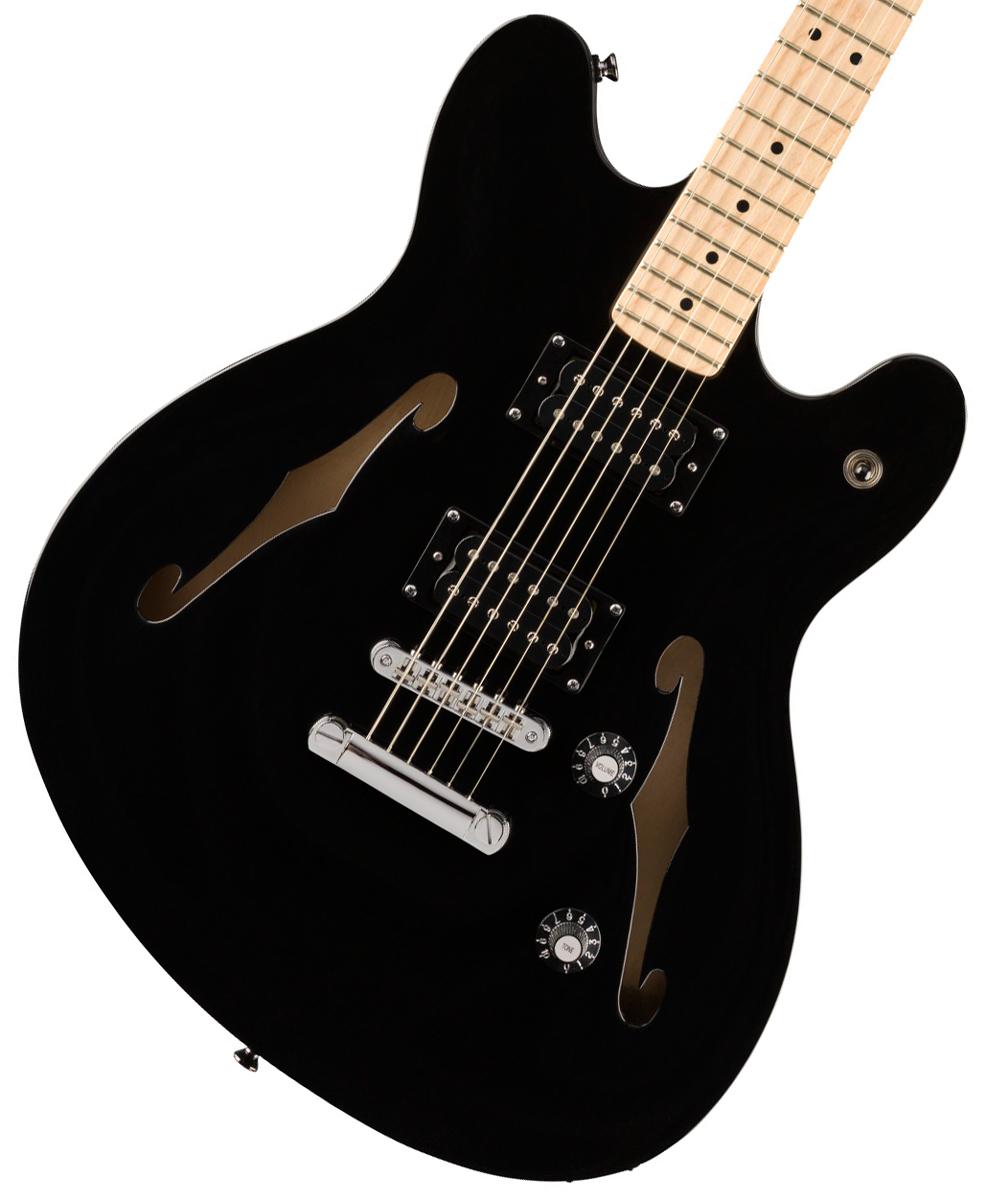【タイムセール:29日12時まで】Squier by Fender / Affinity Series Starcaster Maple Fingerboard Black スクワイヤー《純正バレットチューナープレゼント!/+621153790》