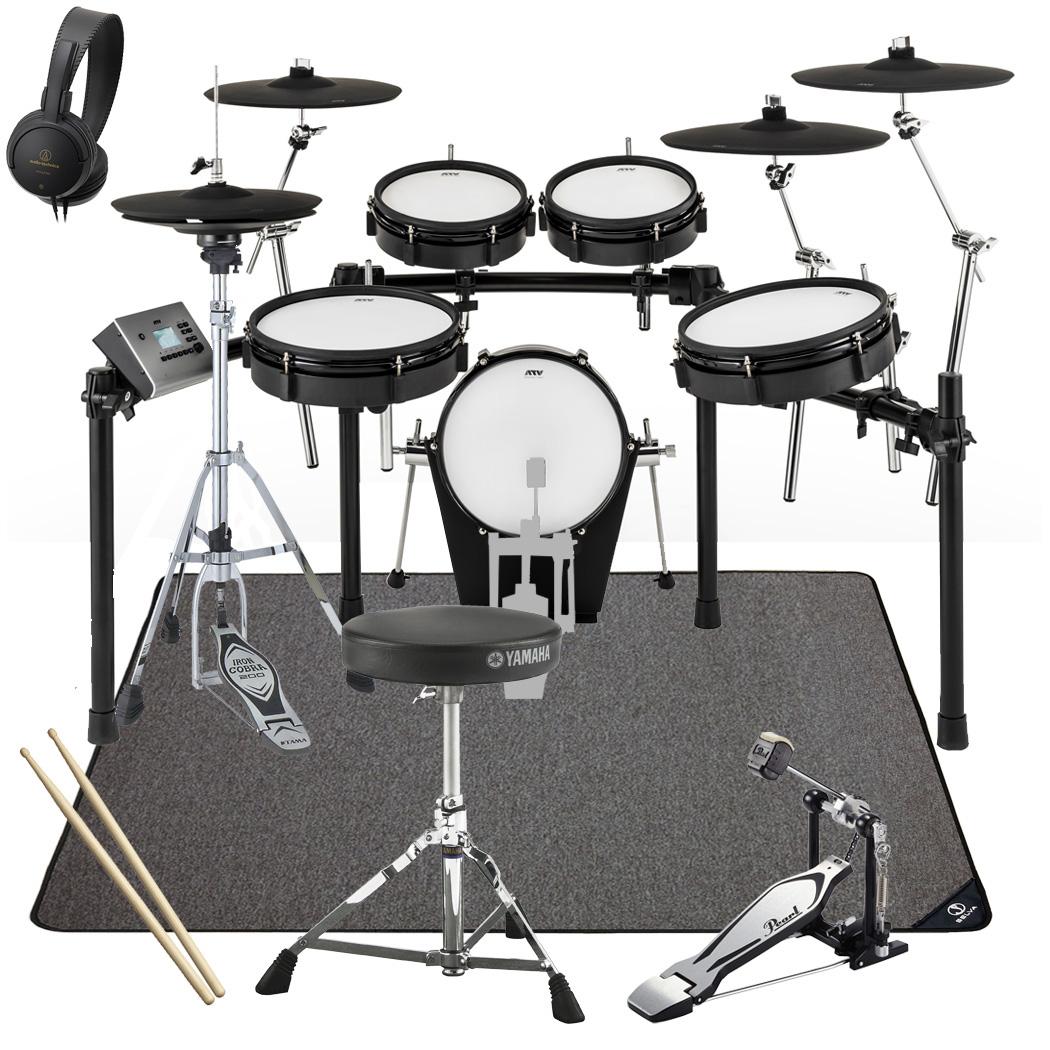 【在庫あります】ATV / EXS-5 電子ドラム リーズナブルスターターパック マットセットver2