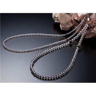 Phiten ファイテン アクセサリー チタン水晶ネック ネックレス(5mm玉/40cm)AQ814051