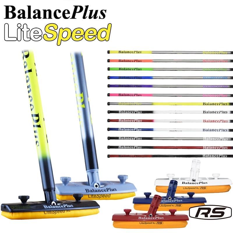 BalancePlus バランスプラス LiteSpeed ライトスピード カーボンファイバーハンドルブラシ(ライトスピード専用ヘッド【Sサイズ又はXLサイズ】付き)WCFパッド・RS カーリング ブラシ