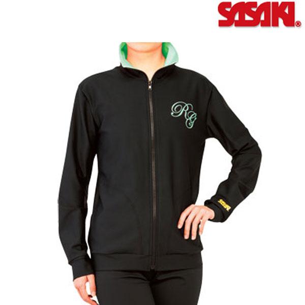 【受注生産】 ササキスポーツ カスタムジップアップジャケット(黒色ジャケットのみ/襟裏カラー選択可) ST-9434