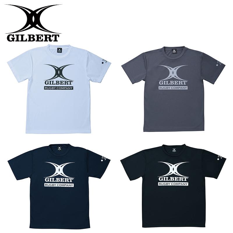 ギルバート 売れ筋ランキング TシャツLOGO GILBERT ホワイト (訳ありセール 格安) ブラック ネイビー ダークグレー GB-8161 ロゴ入りTシャツ GB-8163 ラグビー GB-8162 GB-8164