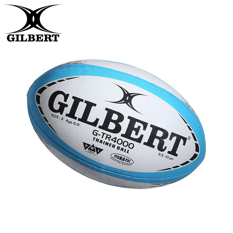 練習球 ジュニアラグビーボール 無料 即日発送 注目ブランド GILBERT ギルバート G-TR4000 3号 スカイ GB-9151 ラグビーボール