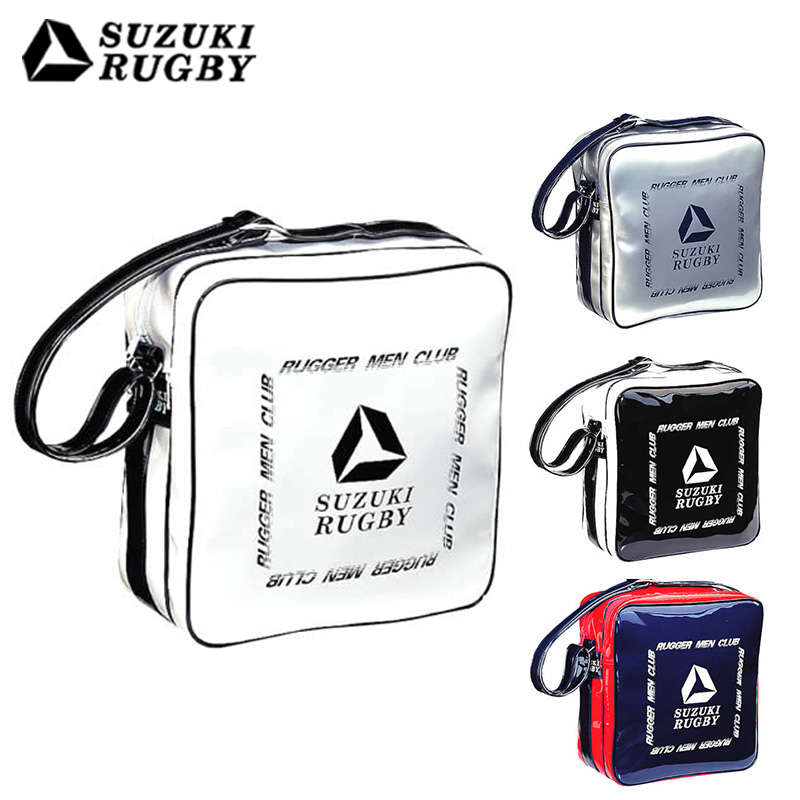 SUZUKI スズキ ショルダーバッグLGM ホワイト×ブラック ブラック×ホワイト ネイビー×スカーレット シルバー×ネイビー (SF-8101 SF-8102 SF-8103 SF-8104) バッグ 鞄 カバン 肩掛け エナメル