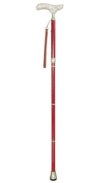 シナノ カイノス 折り畳み杖・カイノス真田 赤:女性向け ステッキ 杖 折り畳み 歩行 ウォーキング 散歩 外 ステッキ 高級 日本製 SINANO 老人 普段 おしゃれ