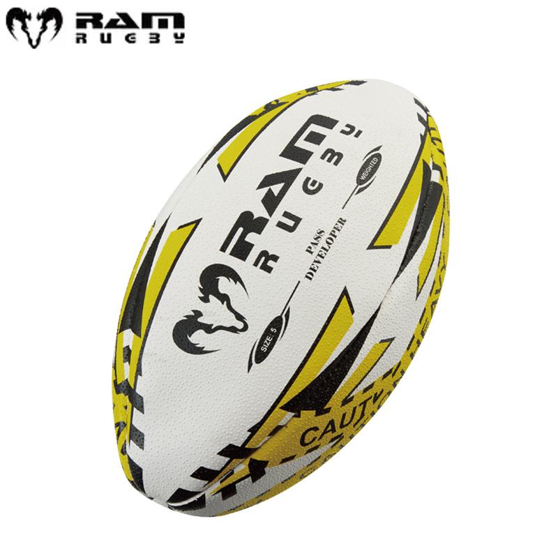 パスの飛距離やスピード セットアップ 正確さのスキルアップ RAM RUGBY ラム Pass Developer 引出物 パワーパスボール 練習球 5号球 メディシンボール 2035-5 ラグビー 1Kg トレーニングボール