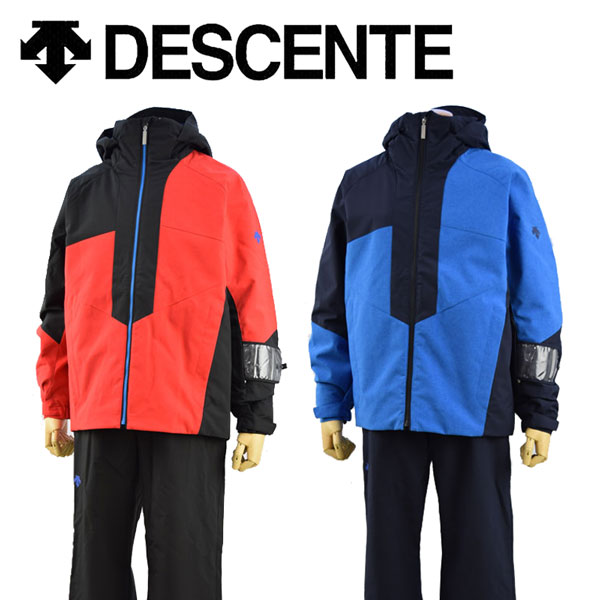デサント 【DESCENTE】 メンズ スキーウェア ジャケット / ラクシングパンツ 上下セット DWMMJH79 2018-2019 モデル (男性用/スキー用品/スキースーツ/ツーピース/ヒートナビ/暖かい) 【オススメ】