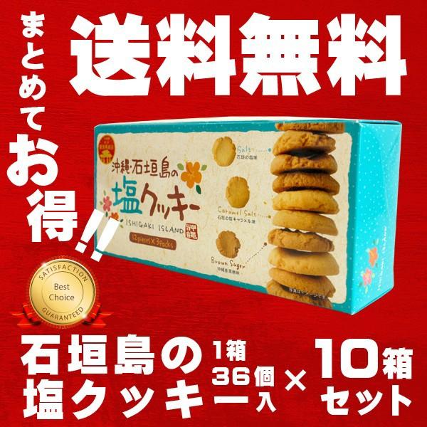 石垣島の塩クッキー 10箱セット ザクザクで歯ごたえ抜群!ほんのり塩味がやみつきに 石垣島 沖縄 お土産 特産品 通販 お菓子