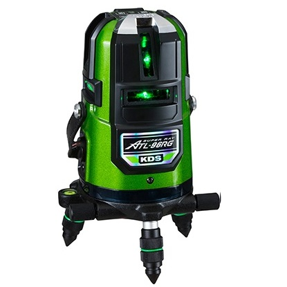 ムラテックKDS 高輝度グリーンレーザー墨出器 ATL-96RGRSA 受光器(LRV-4GD)+三脚(LEC-4M)付 フルライン