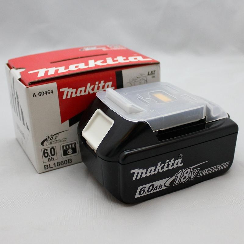 マキタ リチウムイオンバッテリ 18V 6.0Ah BL1860B 残量表示付 A-60464