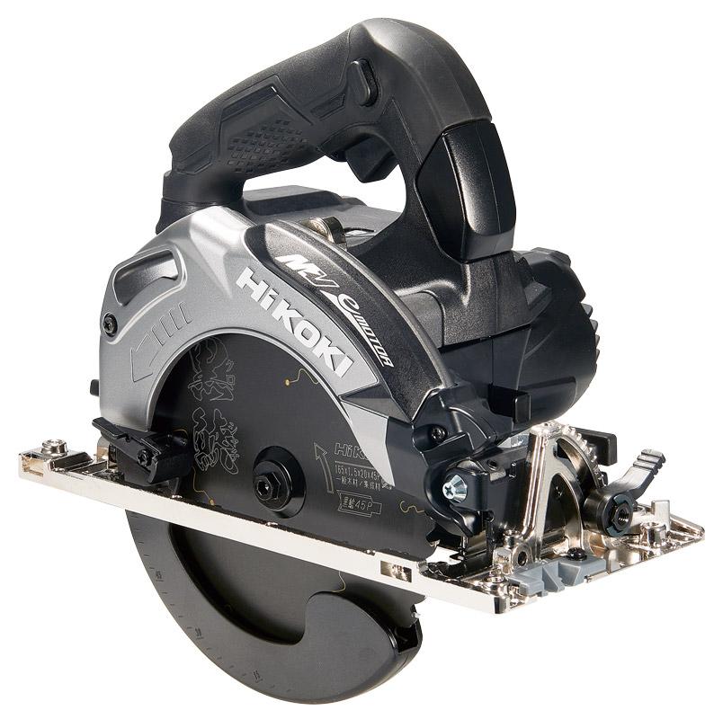 HiKOKI ハイコーキ マルチボルト 36V 165mm コードレス丸のこ C3606DA(2XPB)(K) ストロング ブラック (蓄電池2個・充電器・ケース・黒鯱チップソー付)