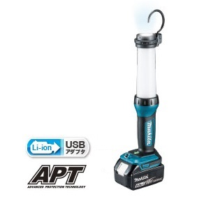 マキタ 充電式LEDワークライト 14.4V/18V ML807 + バッテリ 18V BL1860B (充電器別売) USBアダプタ搭載