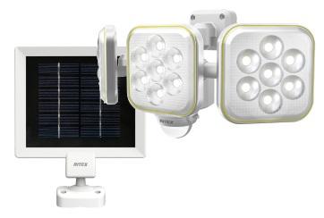 ムサシ RITEX 5W×3灯 LEDソーラーセンサーライト S-90L 5W×3灯 フリーアーム式 昼は蓄電、夜は照明・防犯に