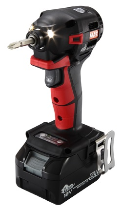 MAX マックス 充電式インパクトドライバ 18V 5.0Ah PJ-ID152R-B2C/1850A レッド (電池2個・充電器・ケース付)